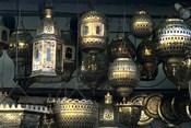 Artwork of Moroccan Brass Lanterns, Casablanca, Morocco