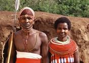 Maasai Couple in Traditional Dress, Kenya