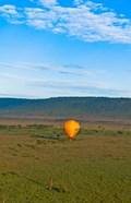 Kenya, Maasai Mara, hot air ballooning at sunrise