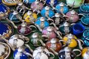 Morocco, Casablanca, market, Ceramic tea pots