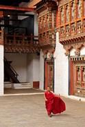Monk at Punakha Dzong, Punakha, Bhutan