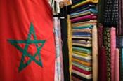 Moroccan Flag, The Souqs of Marrakech, Marrakech, Morocco
