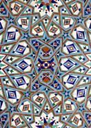 Morocco, Hassan II Mosque mosaic, Islamic tile detail