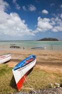 Mauritius, Rodrigues Island, fishing boats