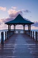 Mauritius, Mahebourg, waterfront pier, dawn