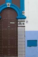 MOROCCO, Rabat: Kasbah des Oudaias, Doorway Detail