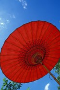 Red Umbrella With Blue Sky, Myanmar