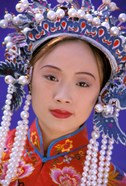 Portrait of Chinese Woman Wearing Ming Dynasty Dress, China