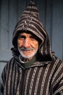 Portrait of Old Muslim Man, Tangier, Morocco, Africa