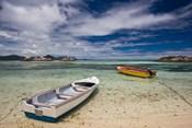 Seychelles, La Digue Island, Fishing boats