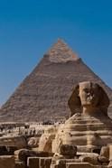 Sphinx and Pyramid, Giza, Egypt