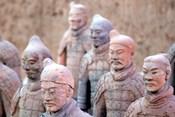 Terra Cotta Warrior Heads, Xian, Shaanxi, China