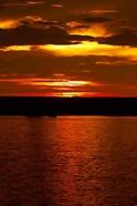 Sunset over Chobe River from Sedudu Bar,Kasane, Botswana, Africa