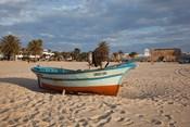 Tunisia, Hammamet, Kasbah Fort, Fishing boats