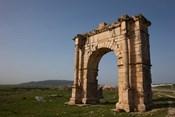 Tunisia, Dougga, Roman-era arch on Route P5