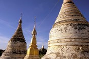 Whitewashed Stupas, Bagan, Myanmar