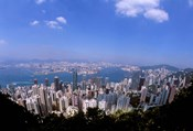 View of City from Victoria Peak, Hong Kong, China