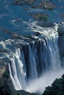 Zambezi River Flowing over Victoria Falls, Mosi-Oa-Tunya National Park, Zambia