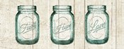 Flea Market Mason Jars Panel I v.2