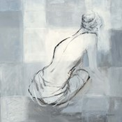 Nude Figure Study on Gray I