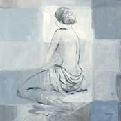 Nude Figure Study on Gray II