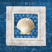 Sea Shell III on Blue