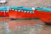 Wooden Boats in Ganges river, Varanasi, India