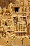 Carvings on Jain Temple, Jaisalmer, India