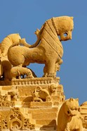 Carved figures on Jain Temple, Jaisalmer, India