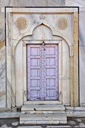 Lavender colored door, Taj Mahal, Agra, India