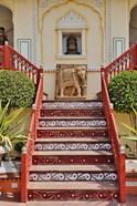 Steps at Raj Palace Hotel, Jaipur, India