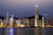 Hong Kong Skyline with Victoris Peak, China