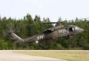 US Army UH-60L Blackhawk helicopter landing at Florida Airport