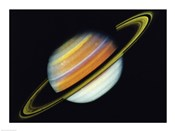 Saturn Taken By Voyager 2 From A Distance of 27 Million Miles
