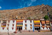 Hemis Monastery facade with craggy cliff, Ladakh, India