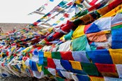 India, Jammu and Kashmir, Ladakh, Namshangla Pass prayer flags