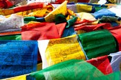 Prayer flags, Namshangla Pass, Ladakh, India