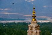 India, Ladakh, Leh, Gonpa Soma Jokhang spire,