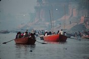 Boats in the Ganges River, Varanasi, India