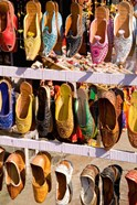 Shoes For Sale in Downtown Center of the Pink City, Jaipur, Rajasthan, India
