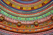 Ceiling of Shree Laxmi Narihan Ji Temple, Jaipur, Rajasthan, India.