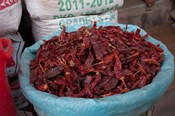 Dried chilies, Jojawar, Rajasthan, India.