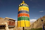 Colorful structure, Gompas And Chortens, Ladakh, India