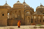 Bada Bagh with Royal Chartist and Finely Carved Ceilings, Jaisalmer, Rajasthan, India