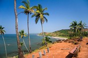Goa, India. Big and Little Vagator beaches