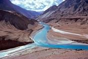 India, Ladakh, Indus and Zanskar Rivers merge