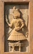 Stone carving in Hotel Prithvi Vilas Palace, Jhalawar, Rajasthan, India