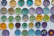 Pottery Dish Decoration on Wall, Jaipur, Rajasthan, India