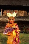 Bride in Traditional Dress in Ulur Danu Temple, Lake Bratan, Bali, Indonesia