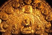 Gold Sculpture Artwork in Bali, Indonesia